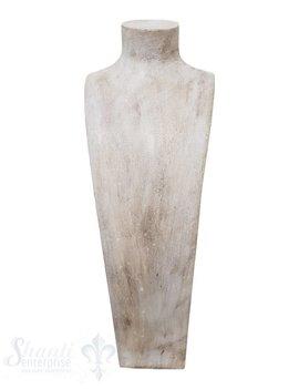 Display weiss antik Büste: 28x85 cm