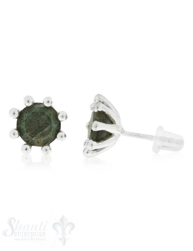 Ohrstecker Kronenfassung 10 mm