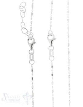 Silberkette Fantasie Anker 1,2mm mit Würfel verteilt und Karabiner