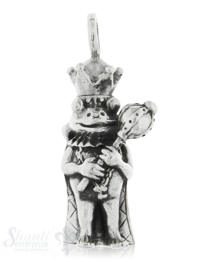 Anhänger Silber Froschkönig mit Zepter