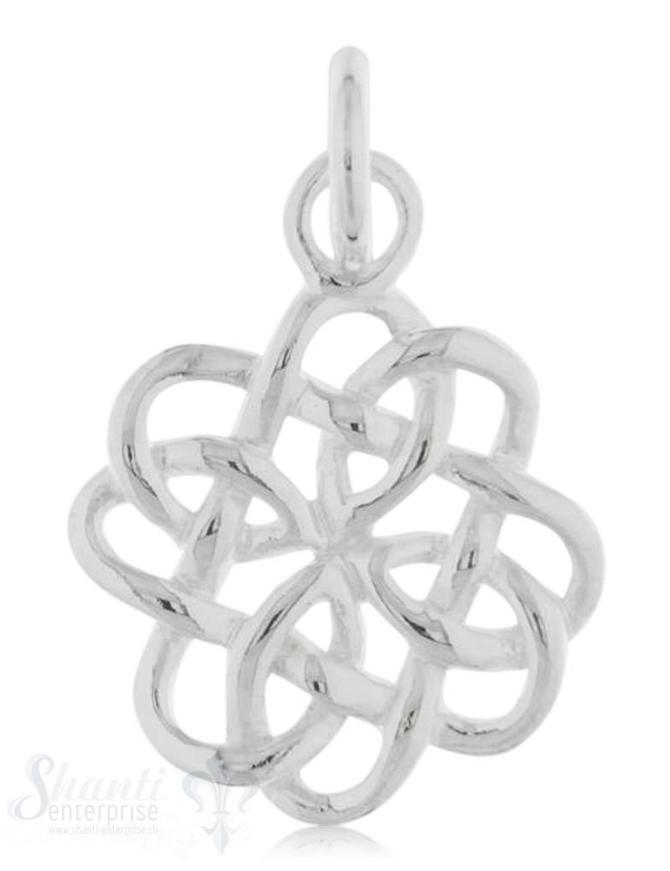 Si-Anhänger: Keltischer Knoten poliert D: 15 mm