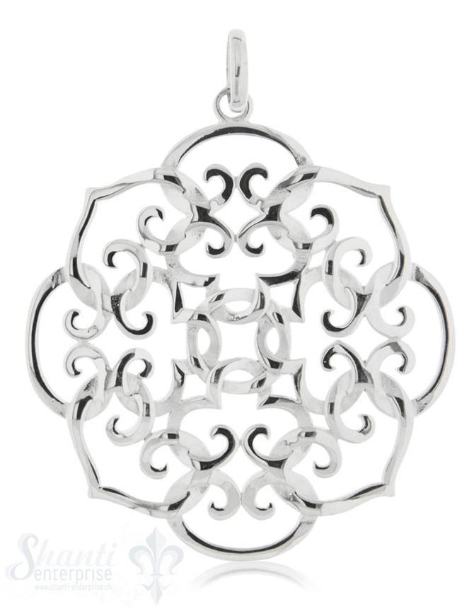 Anhänger Silber hell Medaillon hell Herzen verschl ungen 42 cm 1 Pack = 1 Stk.