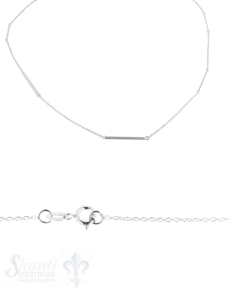 Silberkette Anker Zwischenteil Stäbchen poliert 94 cm Federringschloss