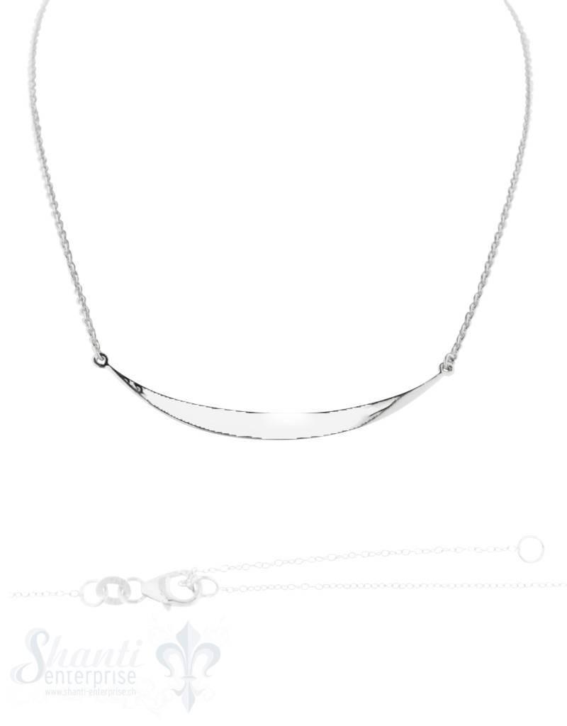 Silberkette Anker  Sichel poliert 40+42+44 cm Grössen verstellbar