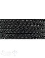 Flaches Leder gezöpfelt Textil/Leder per Meter Breite: 9mm Dicke: 3mm