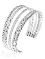 Armspange Silber antik 5 Stränge , gezopft, glatt, gedreht