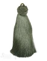 Seidenquaste 25x120 mm mit geflochtenem Kopf und Schlaufe