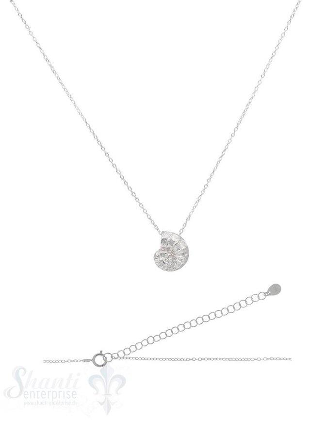 Halskette Silber Anker mit Ammonit 15x13 mm 40-45 cm Grössen verstellbar Federringschloss