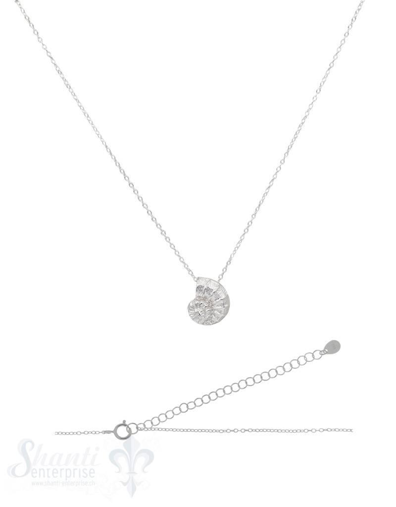 Halskette Silber Anker mit Ammonit 15x13 mm