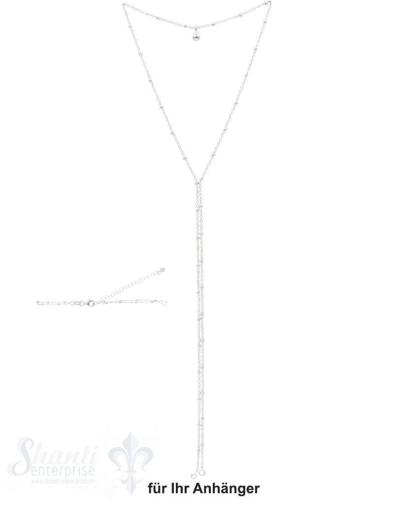 Ypsilonkette  zweireihig Fantasie mit Kügeli mit