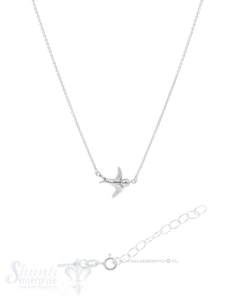 Halskette Silber Anker mit Schwalbe integriert