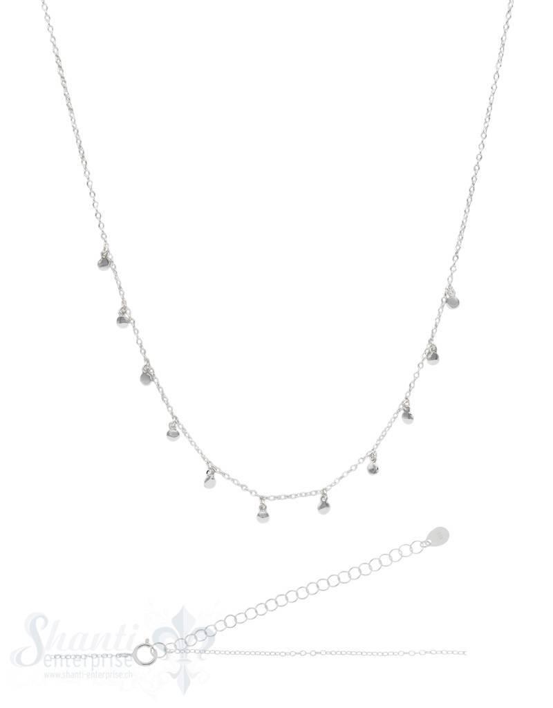 Halskette Anker fein mit mini-Plaquetten Grössen verstellbar 31/38 cm Federringschloss