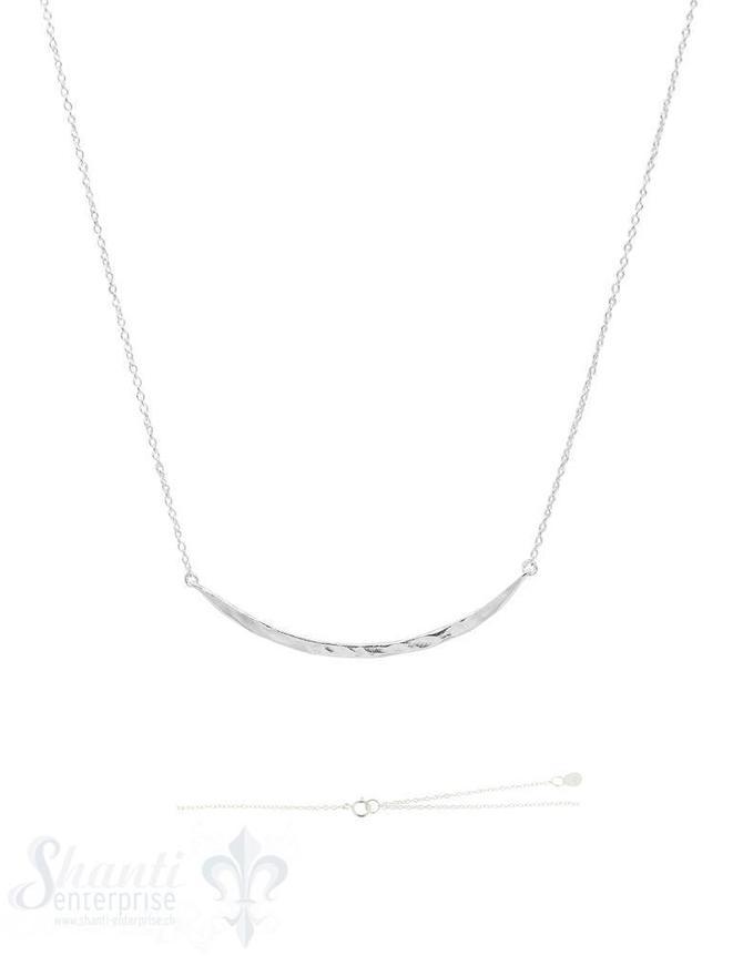 Silberkette Anker Zwischenteil Stab gebogen gehämmert 40 + 45 cm Grössen verstellbar Federringschloss