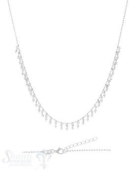 Silberkette: Kugeli mit Kugelianhängerli