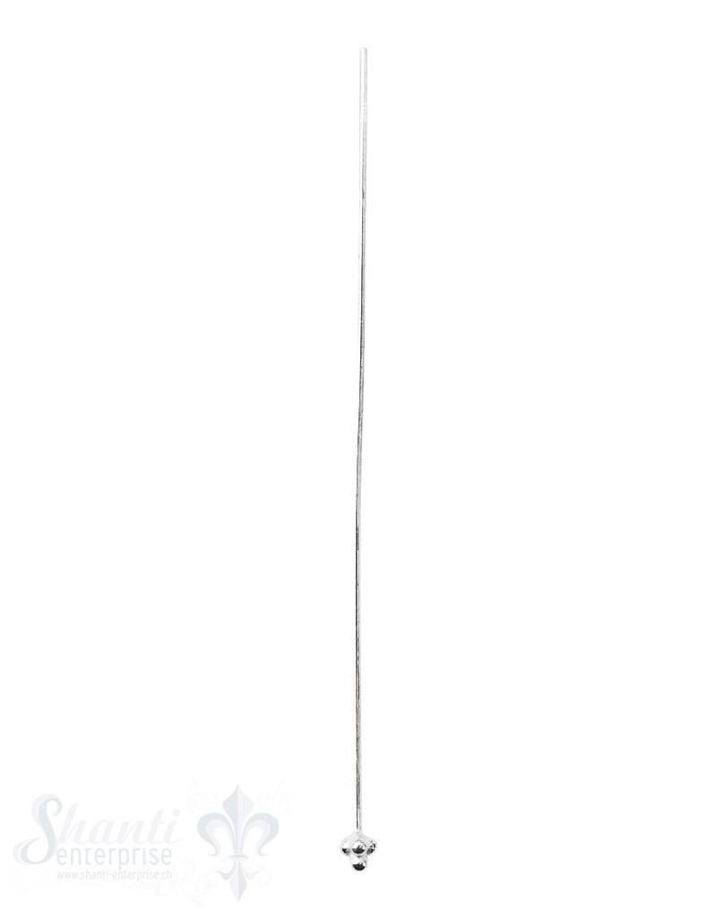Silbernadel hell Ende 4 Punkte zu Pyramide 65 mm D