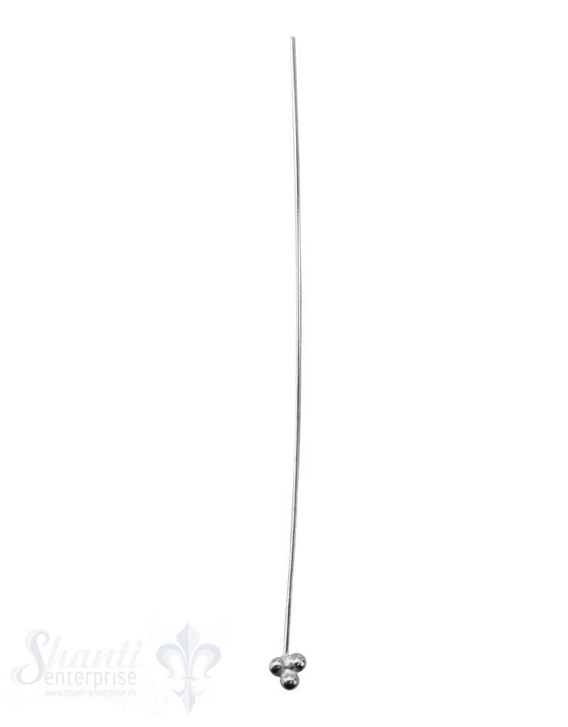 Silbernadel hell 3 Tupfen zu Dreieck