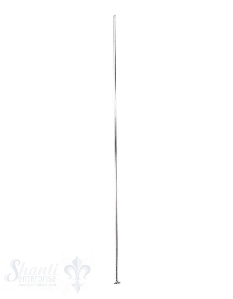 Silbernadel hell flache Platte 80 mm 0.8 mm Dicke