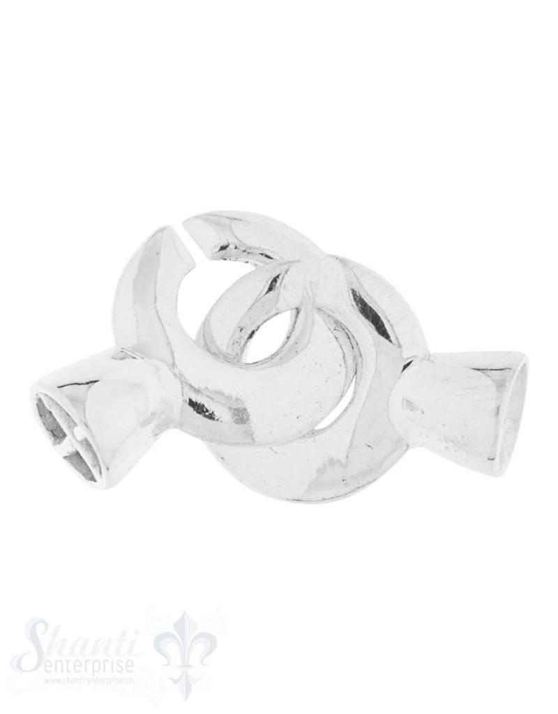 Verschluss Silber Ringe zum ineinander schieben