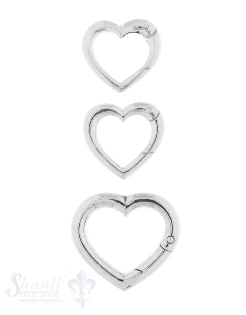 Klickschloss Silber Herz