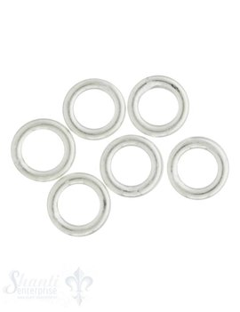 10 mm Ø Öse geschlossen, Dicke: 2.1 mm, geschlos sen, 5 Gramm à 6 Stk.