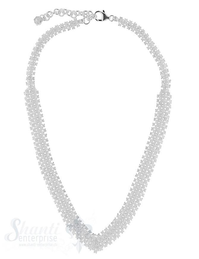 Silberkette Silber reich verziert in Spitz verlaufend massiv 39-43 cm Grössen verstellbar