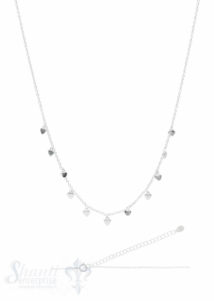 Silberkette ChokerAnker fein Silber hell mit