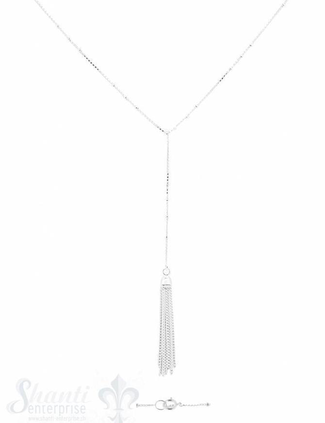 Halskette Ypsilon mit Silberquaste 55 cm