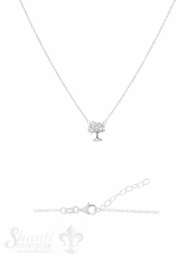 Silberkette Anker fein Lebensbaum 10x14 mm 42-46 cm Grössen verstellbar