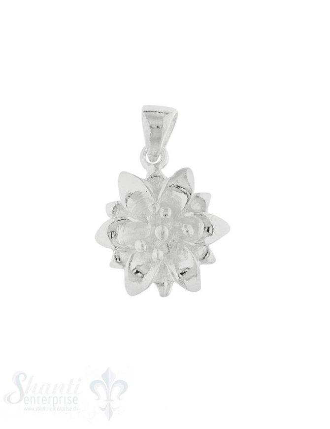 Anhänger Silber hell Edelweiss 14 mm Öse lose