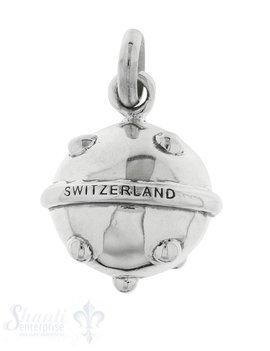 Anhänger Silber Kugel hell Switzerland gepunktet 2