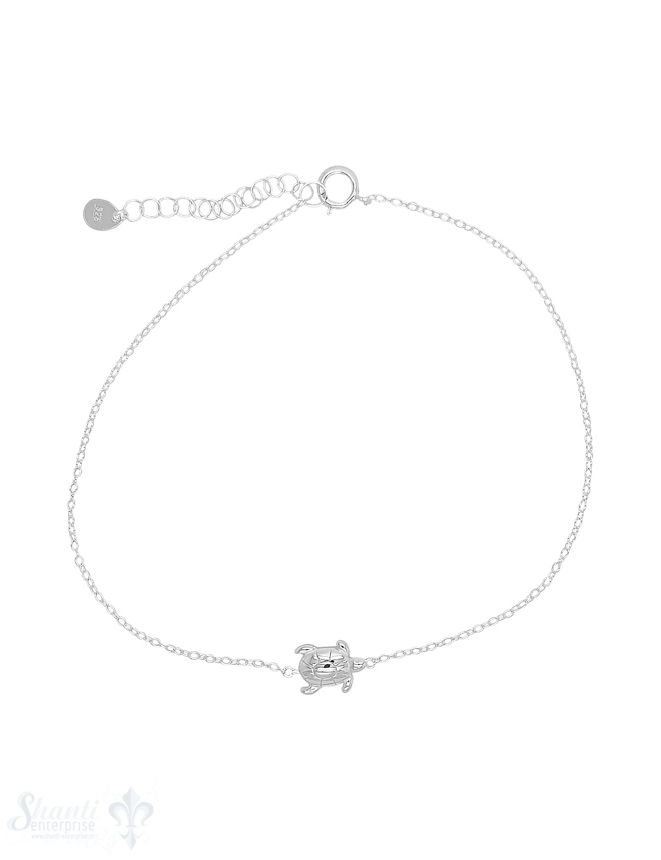 Fussketteli Silber hell Anker 23-26 cm mit