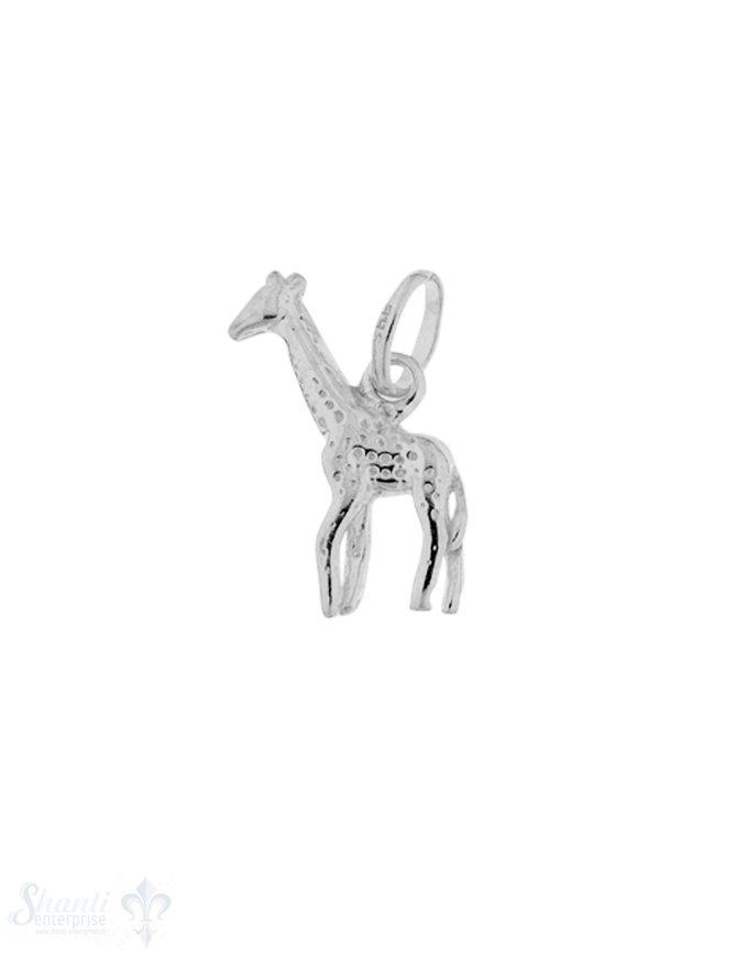 Silbertier: Giraffe mit Öse 5x18 mm 30x35 mmmm