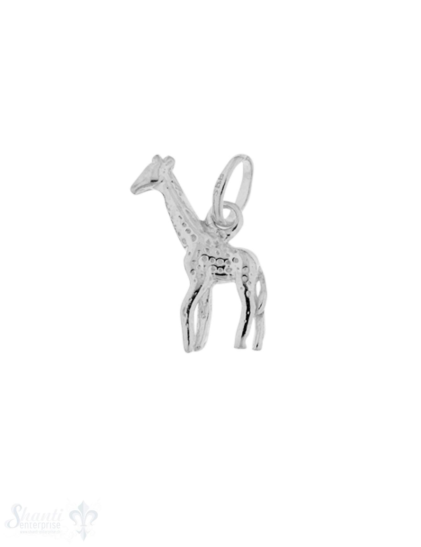 Silbertier: Giraffe mit Öse 5x18 mm
