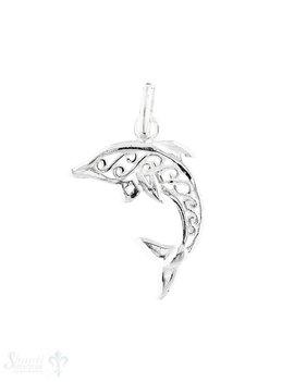 Anhänger Silber hell Delphin springend durchbroche