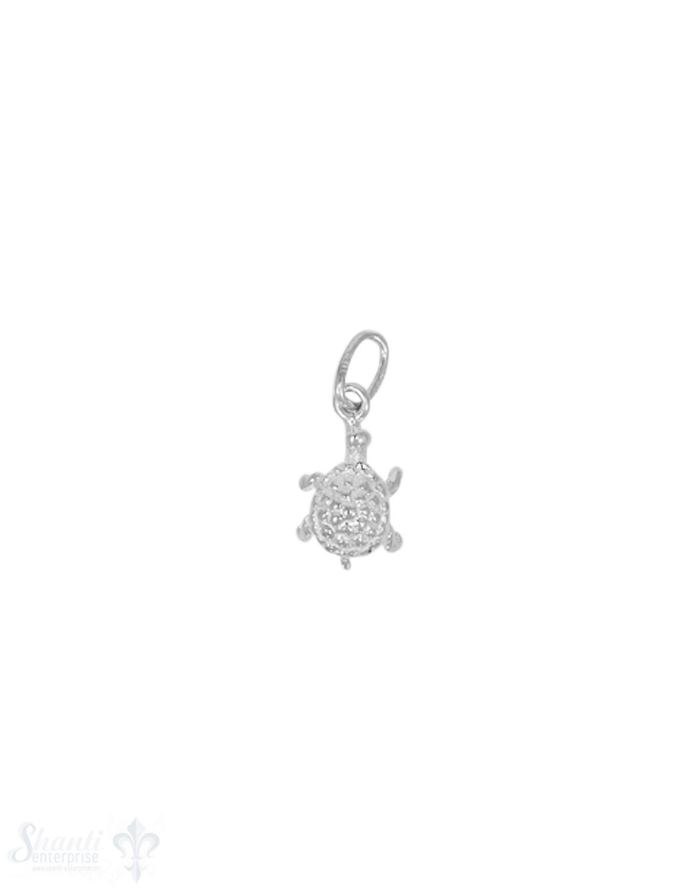 Anhänger Silber hell Schildkröte mini 11x6 mm