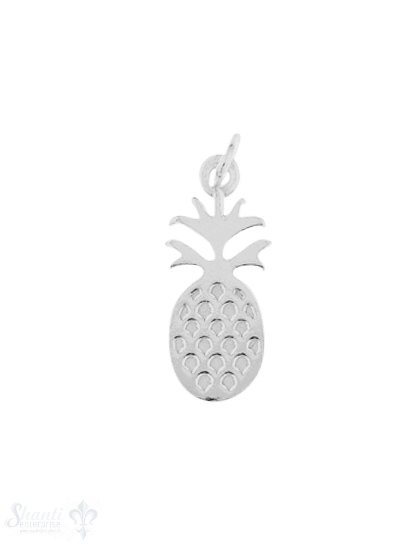 Anhänger Silber hell Ananas 16x7 mm