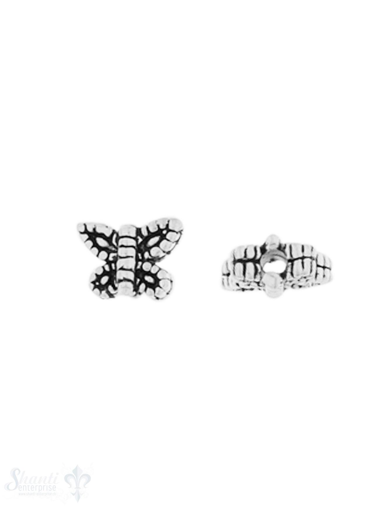 Zwischenteil Silber geschwärzt Schmetterling 6x7 m