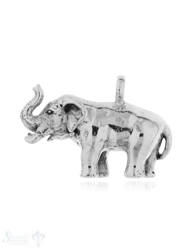Silber-Anhänger: Elefant