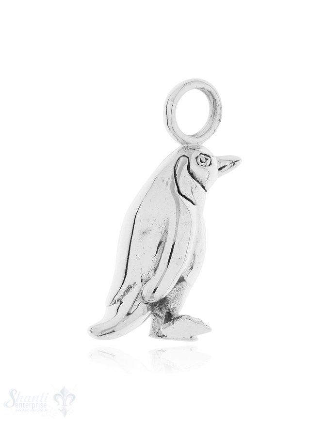 Anhänger Silber hell Pinguin 32x14 mm