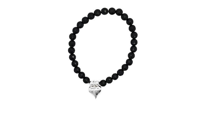Elastikarmbänder Silber mit Edelsteinen/Perlen/Holz