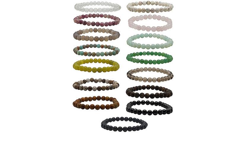 Elastikarmbänder Edelsteine/Perlen/Holz