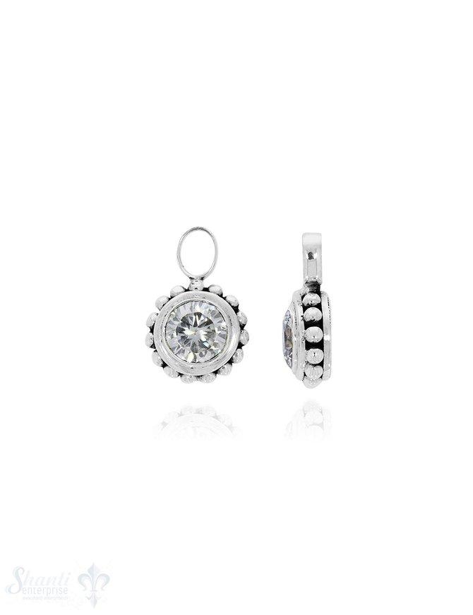 Ohrhänger Silber grosse Punkte Ø16 mm