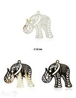 Horn Anhänger Amulett  Elefant 50mm x 60 mm ,durchbrochen mit Loch Farbabweichungen sind möglich