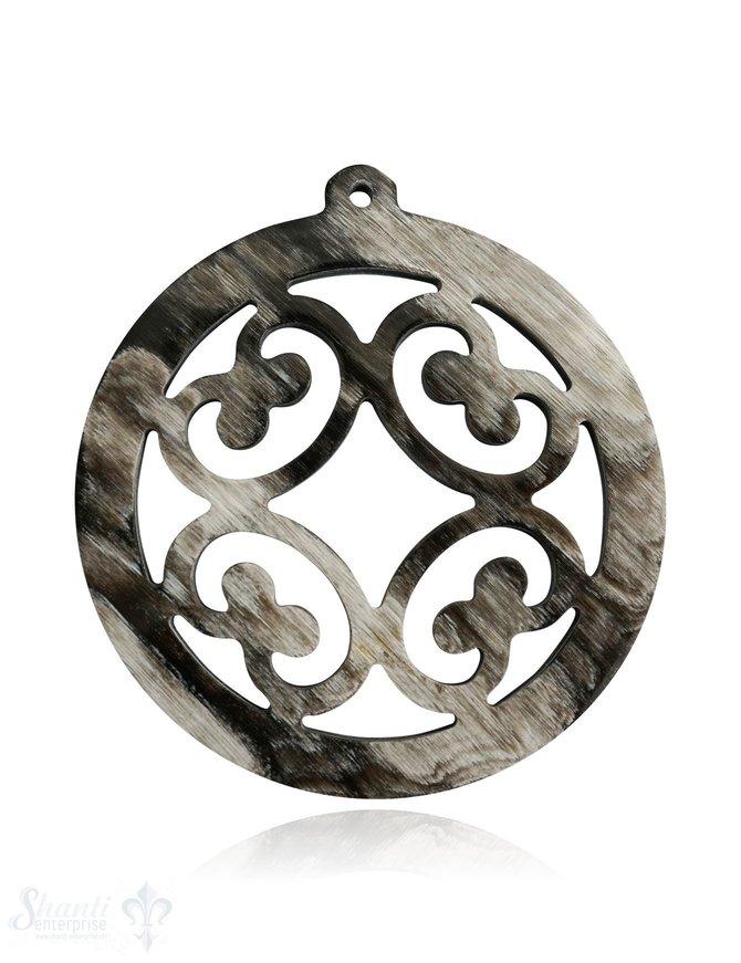 Horn Anhänger Amulett durchbrochen mit Loch Farbabweichungen sind möglich