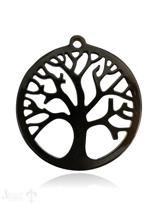 Horn Anhänger Amulett Baum des Lebens durchbrochen mit Loch Farbabweichungen sind möglich