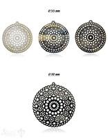 Horn Anhänger Amulett Mandala filigran Ø 55 mm ,durchbrochen mit Loch Farbabweichungen sind möglich