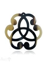 Anhänger Horn Trinity keltischer Knoten Ø  70 mm durchbrochen, mit Loch Farbabweichungen sind möglich