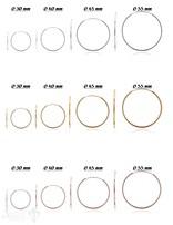 Ohrhänger Creolen Silber 2 mm breit poliert mit Bügel zum Einstecken