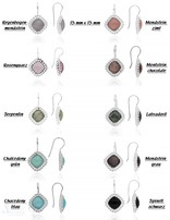 Ohrhänger Silber hell facettiert Quadrat doppelt gepunktet 15x15 mm im Spitz