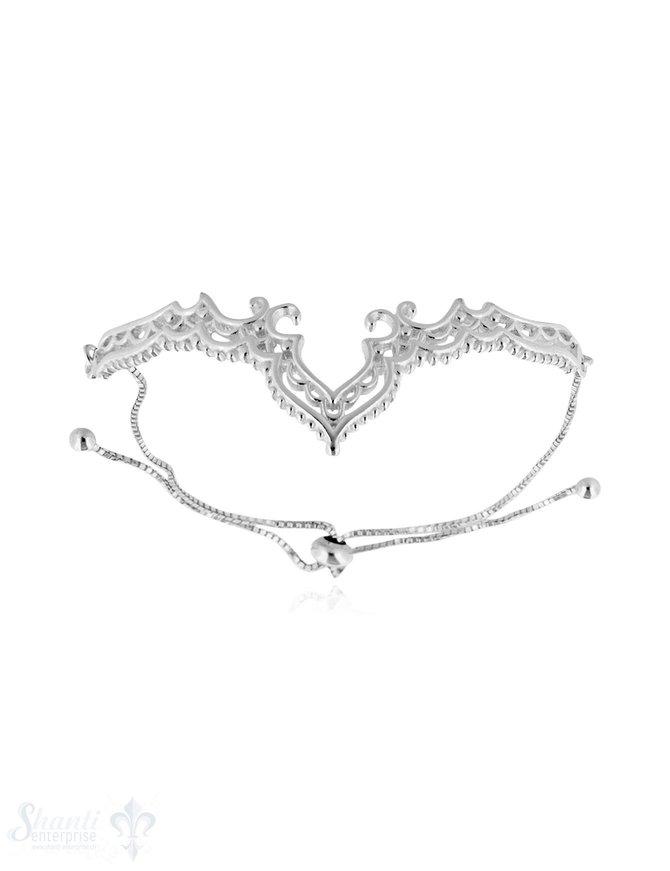 Armkette Silber hell Diadem filigran Grössen verstellbar